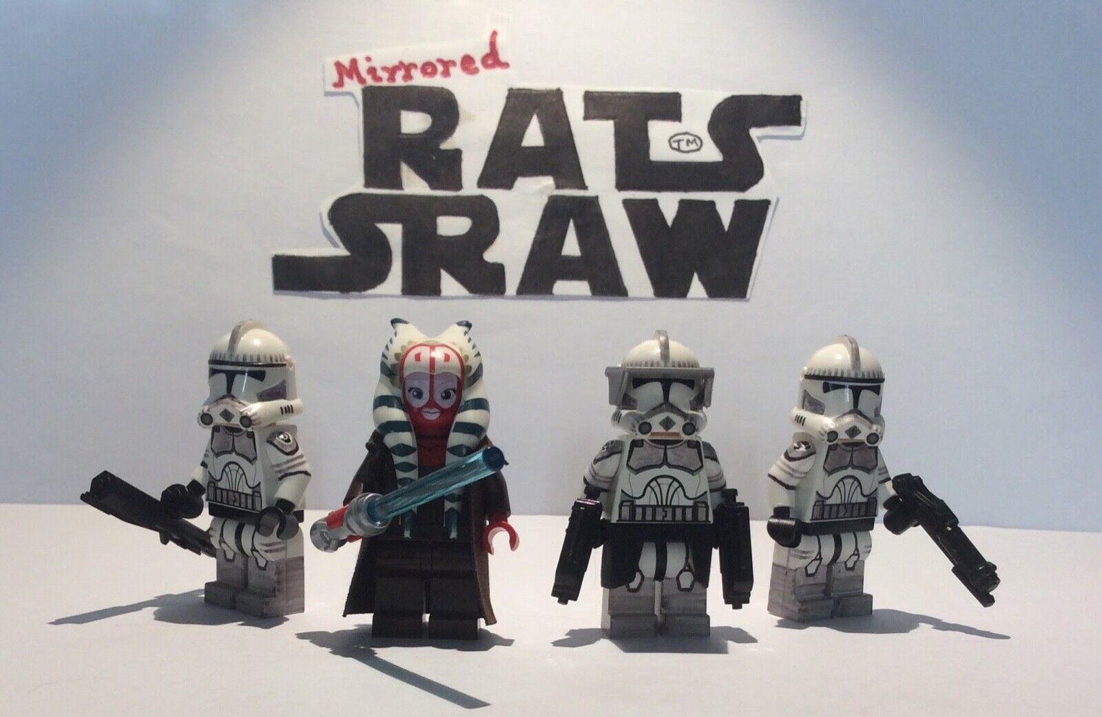 Lego Star Wars minifigures - Clone Custom Troopers - Shaak Ti Kamino set