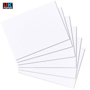 25 x A3 WHITE SMOOTH PREMIUM 190gsm CRAFT CARD DECOUPAGE HOBBY 297mm x 420mm