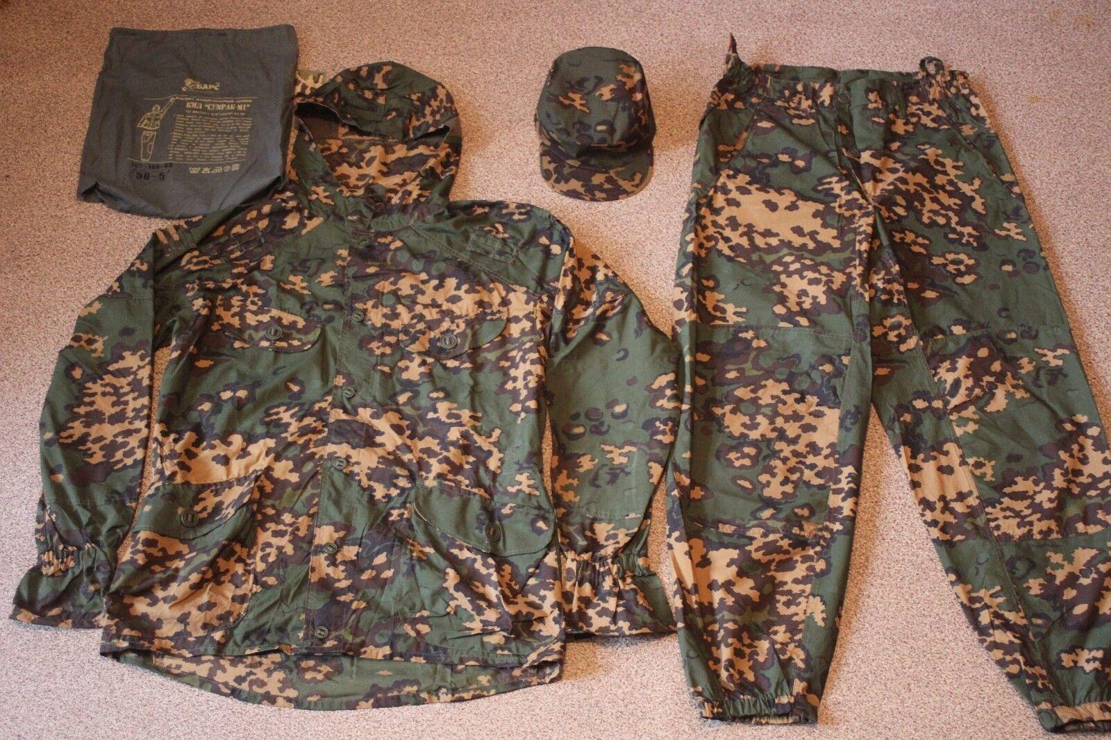 Ejército ruso Alforjas Camuflaje Partizan  Crepúsculo M1  Set (Chaqueta, Pantalones, cap)