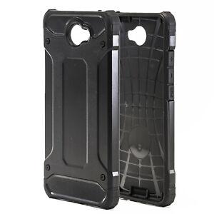 Hybrid Hard Cover for Huawei Y7 / Y7 (2017) / Nova Lite Plus Tough Plastic Black