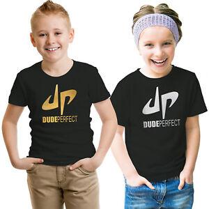 Dude Perfect Youtuber Kids T Shirt Boys Girls Gaming Gift Tee Top