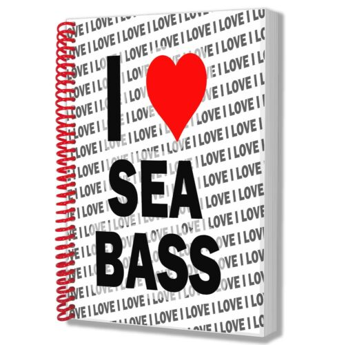 I Love Sea Bass A5 Notebook Pad Diary Drawings Birthday Christmas