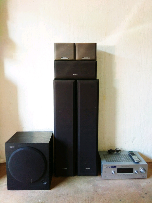 Sony Amp with Speakers and Sub.