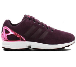 Details about Adidas Originals Zx Flux W Women's Sneaker Shoes Leather  Purple B35320 Trainers