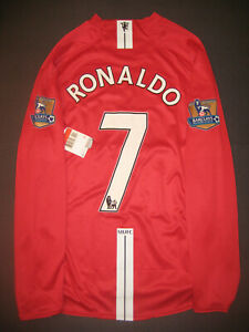 low priced 65592 692ca Details about Nike 2007-2009 Manchester United Cristiano Ronaldo Long  Sleeve Jersey Shirt Kit