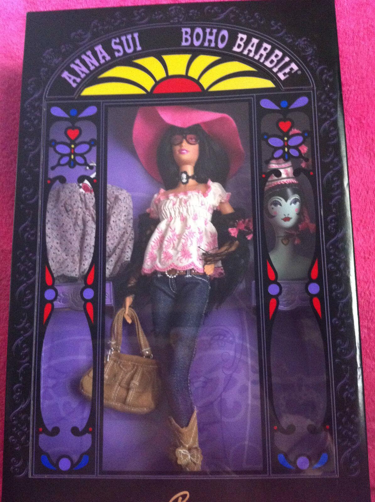 2006 Anna Sui Boho Muñeca Barbie  raras Solo 7700 producidos en todo el mundo