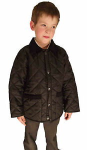 Campbell-Cooper-Brand-New-Kids-Black-Horse-Quilted-Riding-Jacket-Coat