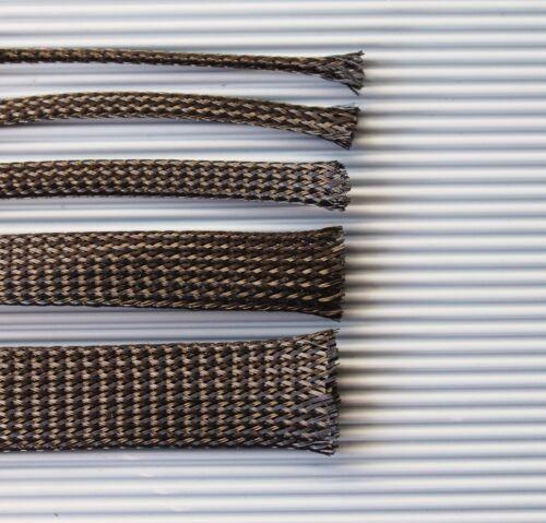 1m Geflechtschlauch Gewebeschlauch  Meterware Kabelschutz Kabelschlauch PET