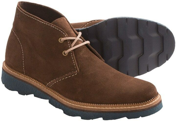 Clarks Da Uomo ** marrone Frelan Hi Boot ** marrone ** in pelle scamosciata, extra leggero ** G 524049