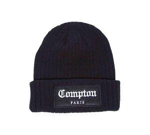 96e51a480c4 Image is loading Mens-Criminal-Damage-Compton-Black-Beanie-Hat-RRP-