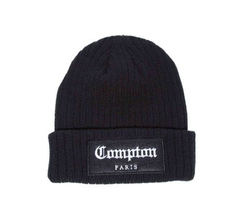 Mens Criminal Damage Compton Black Beanie Hat RRP £17.99