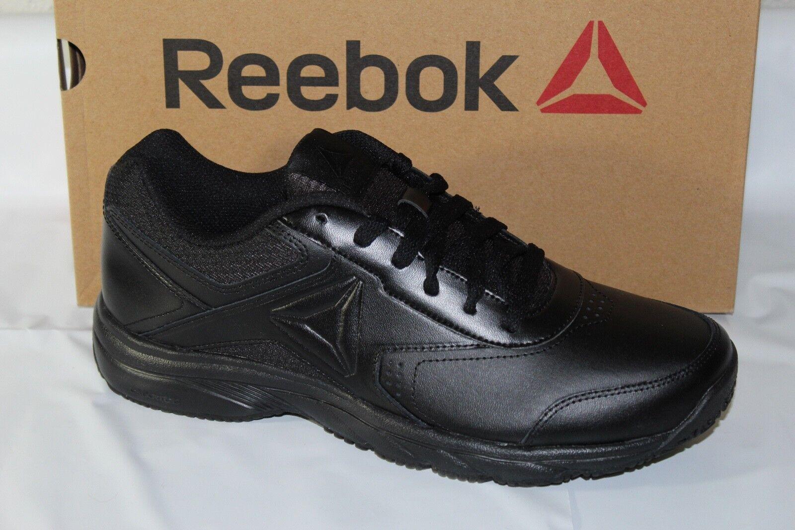 REEBOK WORK N CUSHION 3.0 MENS OIL SLIP RESISTANT WORK WALK SHOES, BLACK, BS9524