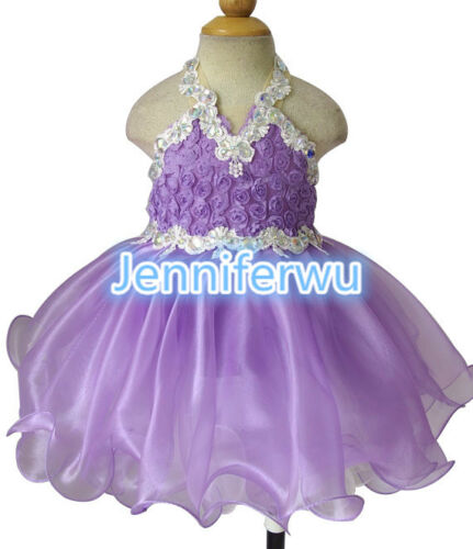 15 color-Infant//toddler//kids//baby//Girl/'s Pageant//prom//formal Dress size1-7EB040C