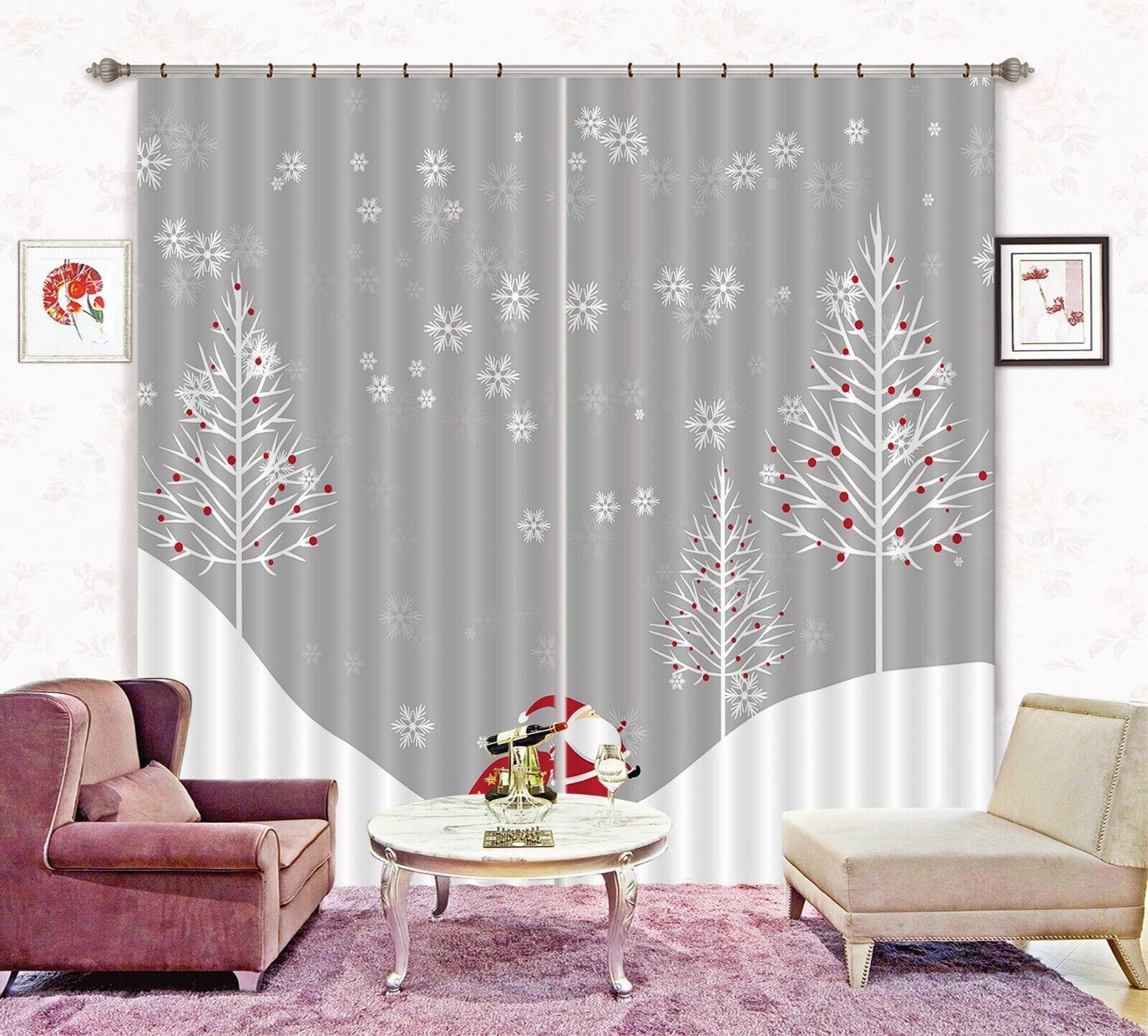 3D Schneeflockenbaum H265 Christmas Fenster Foto Vorhang Stoff Qualität Amy