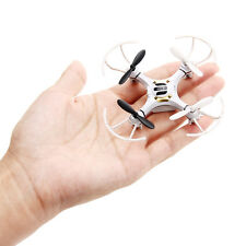 Mini Explorers RC Quadcopter 4CH 2.4GHz 6-Axis Gyro LED Drone 3D Flying White