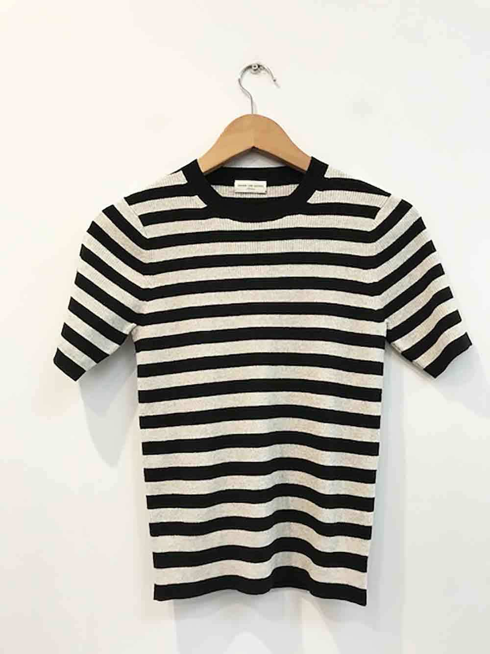 Designer BNWOT Dries Van Noten Größe Medium Striped Knit Woherren Top