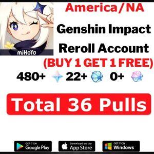 NA-EU-Genshin-Impact-Starter-Account-AR10-Guaranteed-30-35-draws