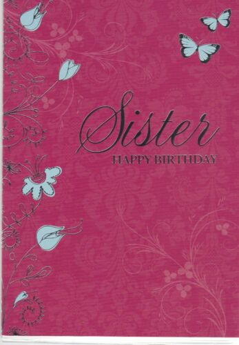Sister birthday card for Girl Woman Female ~ choice of design
