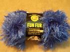 2 50g Balls Lion BRAND Fun Fur Yarn Sapphire