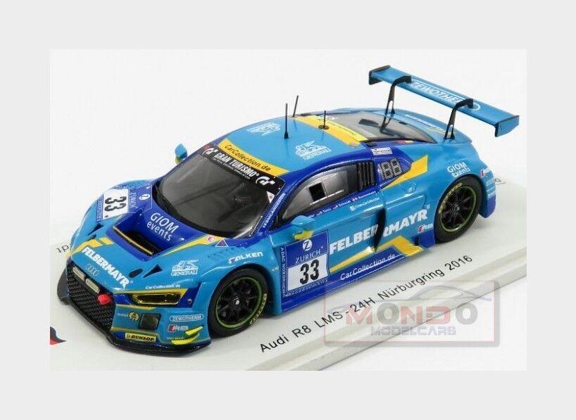 Audi R8 Lms  33 24H Nurburgring 2016 Ziegler Tonic Saurenmann Spark 1 43 SG241