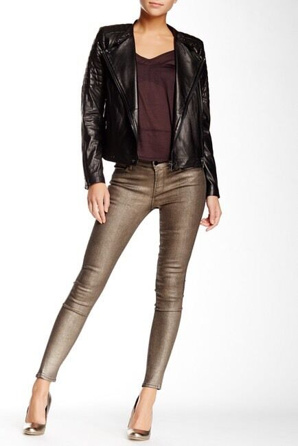 J Brand Women's gold Dust Super Skinny Jeans - Size 27