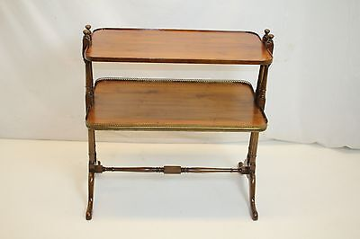 Regency Maple Server Sofa Table Labeled OLD COLONY FURNITURE