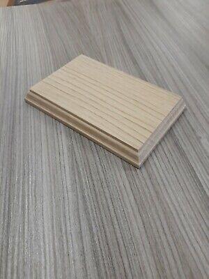 wooden model base oak pattress display mount plinth 200MM x 100mm cap