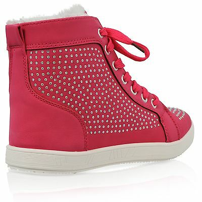 Señoras para mujer de Piel De Tobillo Alto Top Chicas lazada Casual Caliente Plana Zapatillas Zapatos