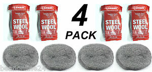 4 Packs x Steel Wool 100g Rolls - Coarse - Grade 3