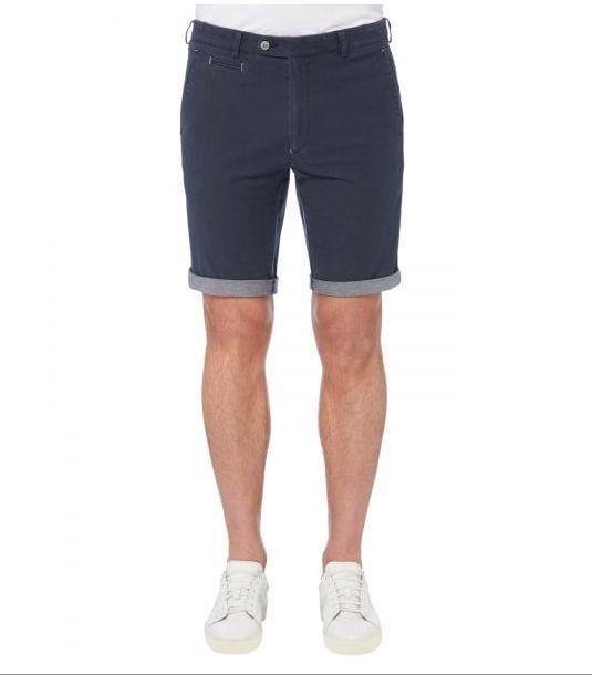 Remus men ENZO Slim Cotton Shorts Navy - 42  WAS .99