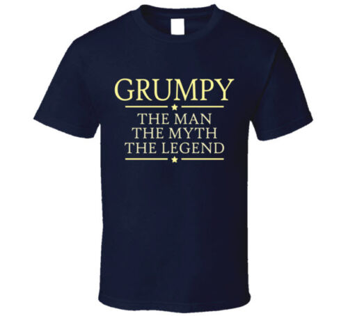 Grumpy the Man the Myth the Legend T Shirt Gift for Grandpa Papa Poppa Father