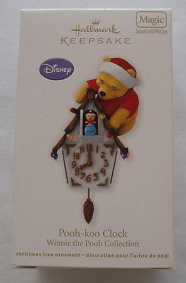 Hallmark 2012 Disney Winnie the Pooh Koo Clock Magic Motion Christmas Ornament