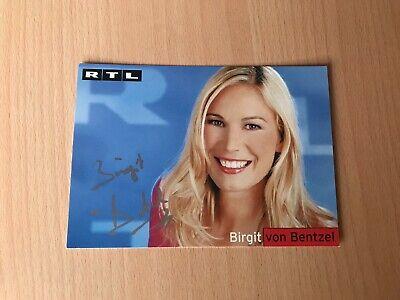 signiert 4547 Birgit Schrowange RTL TV-Moderatorin Autogrammkarte orig