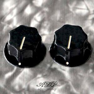 2x Boutons Pour Mustang Axe Plein Pk 3256-023 Black Knobs Fits Solid Shaft Pots Mhsuvezm-07160538-423731093