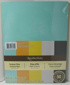 Recollections-Cardstock-Carta-8-1-5-1cm-x-27-9cm-50-Fogli-29-5kg-5-Color-Estate