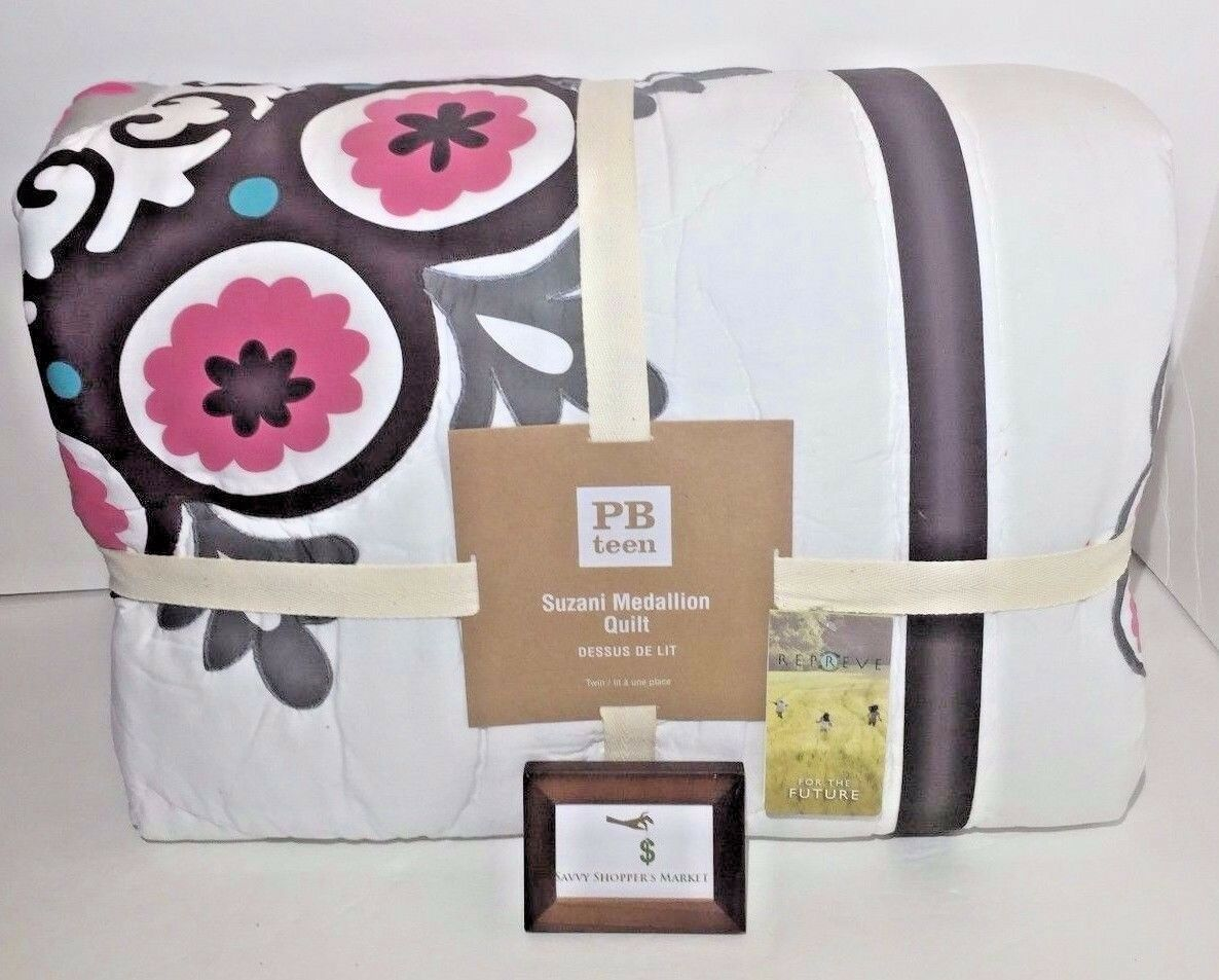 Pottery Barn Suzani Medallion Patchwork Quilt Twin New - Nwt