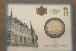 Coincard-mit-2-Euro-Gedenkmuenze-Luxemburg-2019-Wahlrecht-Mzz-Bruecke