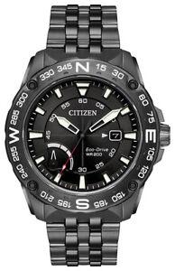 Citizen Eco-Drive Men's PRT Rotating Compass Bezel Grey 44mm Watch AW7047-54H
