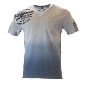 Buffalo-David-Bitton-Men-039-s-Blue-Mirage-Nimbert-Graphic-T-Shirt-Sz-S-49-NEW