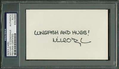 Autographs-original 100% True Snl Michael O'donoghue Signed Autographed 3x5 Index Card Psa/dna High Quality Materials