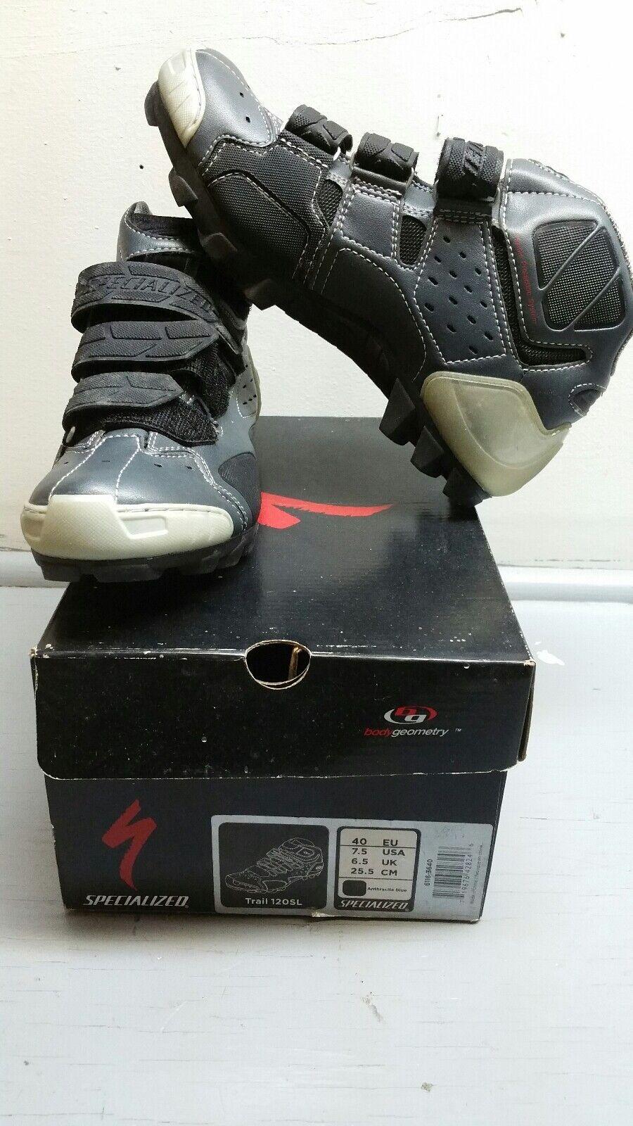 NIB Carbon Specialized Trail 120SL mountain biking shoes Size 40 Euro; 7.5 US