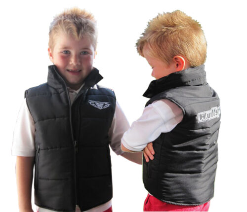 Wulfsport cub leisure wear gilet jacket black kids medium motocross