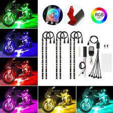 6 Pcs Motorcycle Rgb 54led Waterproof Under Glow Lights Strip Neon Kit Remote