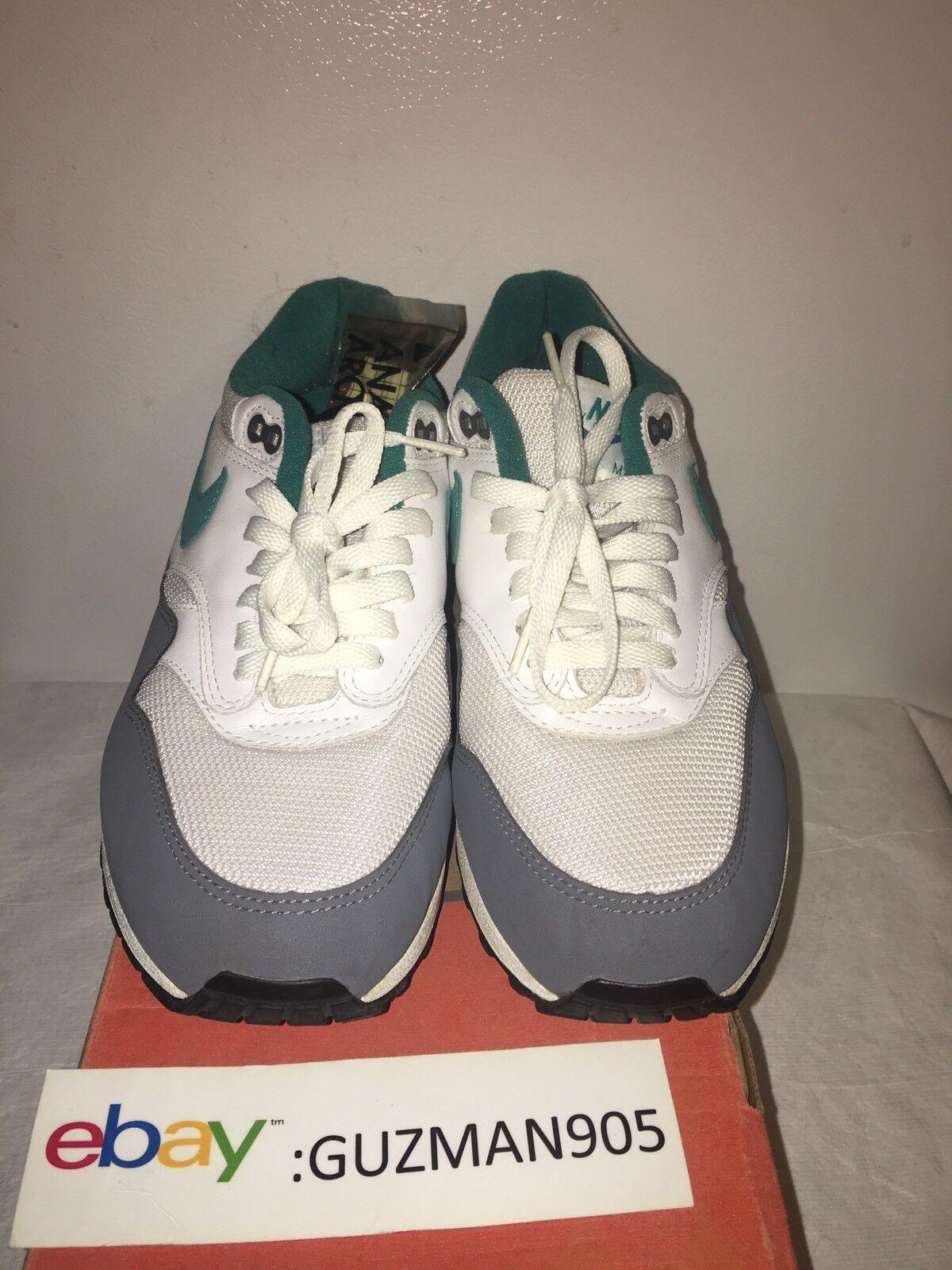 2004 Nike Air Max 1 Teal Size 9 Euro 306295 131 Patta Atmos 87 Mesh