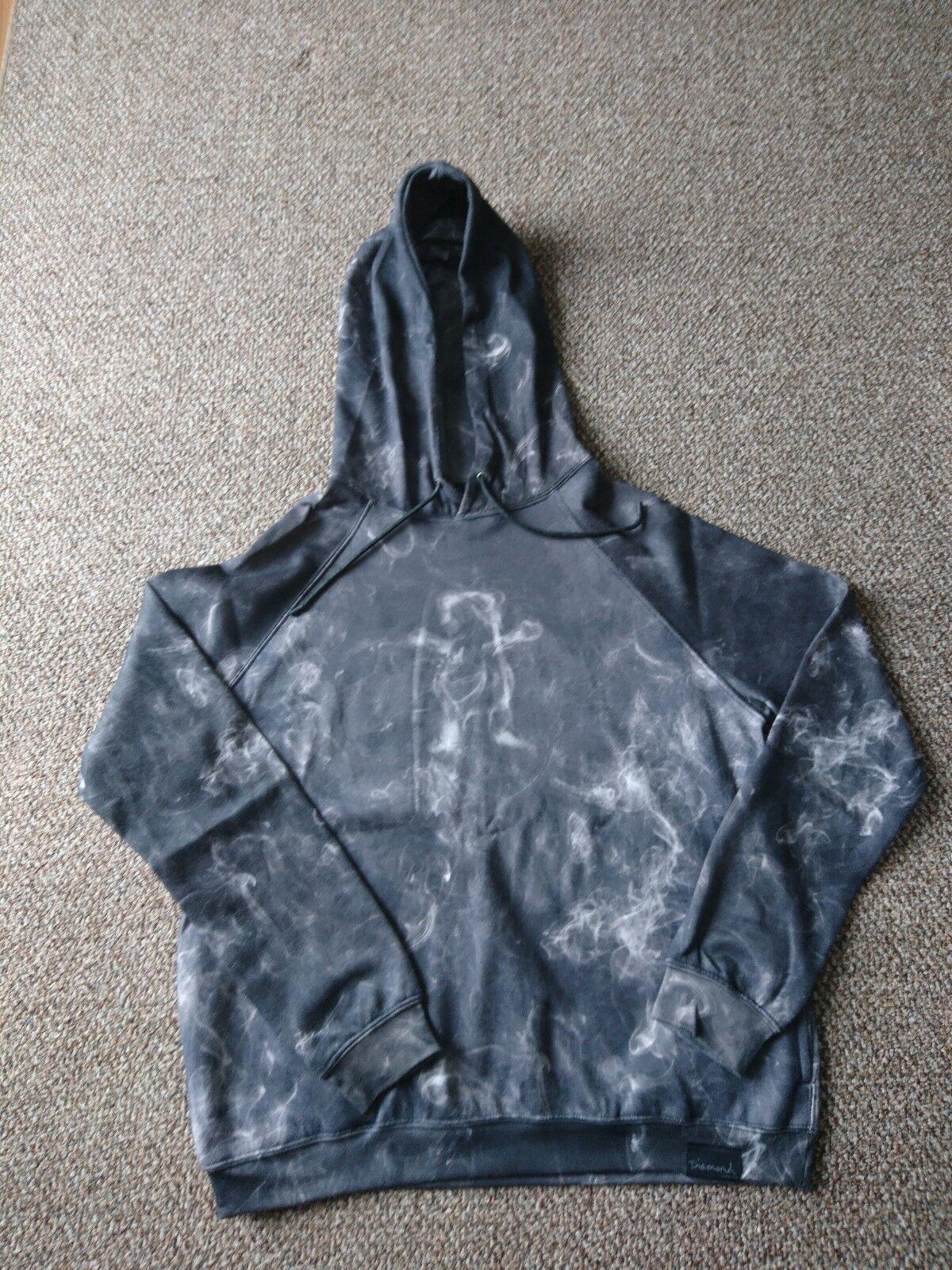 61cd9c4667476 Diamond Supply Co Smoke Sublimated Bear VVS Grizzly Griptape Hoodie Large