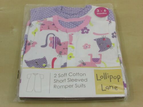 3-6 mois-Lollipop Lane Baby Girl BABYGROWS//Ange costumes//Gilets