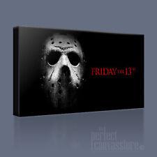 Friday The 13th Halloween Horror Maschera iconica foto stampa tela arte Williams