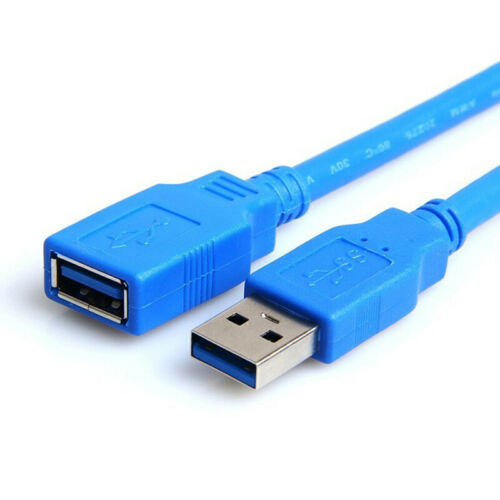 10Ft USB 3.0 A Male TO A Female Extension Cable Super Speed Blue Color Cord FMTS