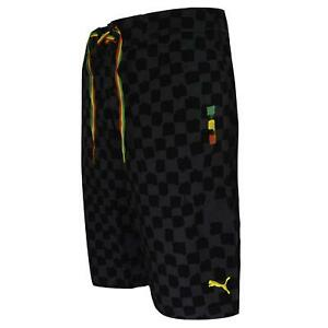 Puma-Mens-Long-Board-Shorts-Swimming-Trunks-Black-558623-01