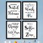 Funny Bathroom Wall Art Prints Farmhouse Decor Pictures Signs Quotes Gag Gift